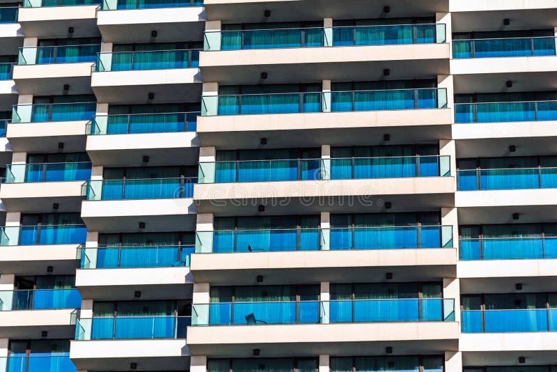 Fachada de hotéis do arranha-céus imagem de stock