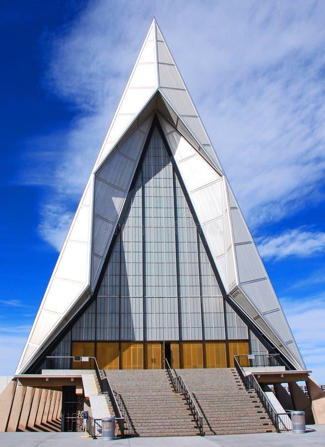 Fachada de la capilla de la fuerza aérea fotos de archivo libres de regalías
