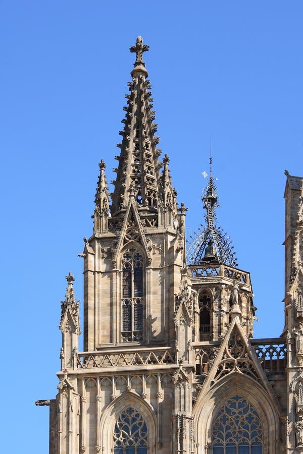 Fachada de la catedral de Barcelona fotografía de archivo libre de regalías