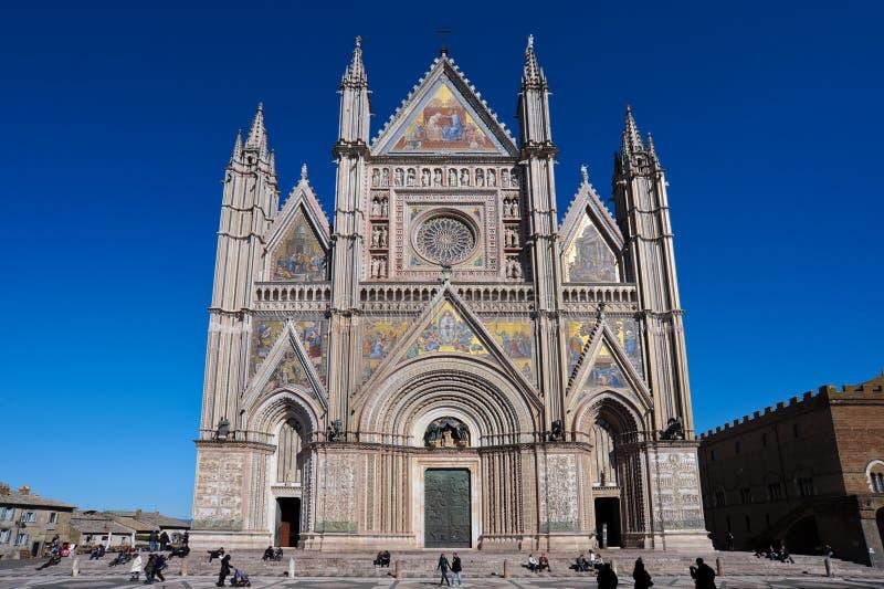 Fachada de la catedral de Orvieto imagenes de archivo