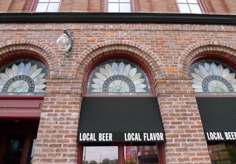 Fachada de la cervecería de Bricktown, Fort Smith, Arkansas foto de archivo