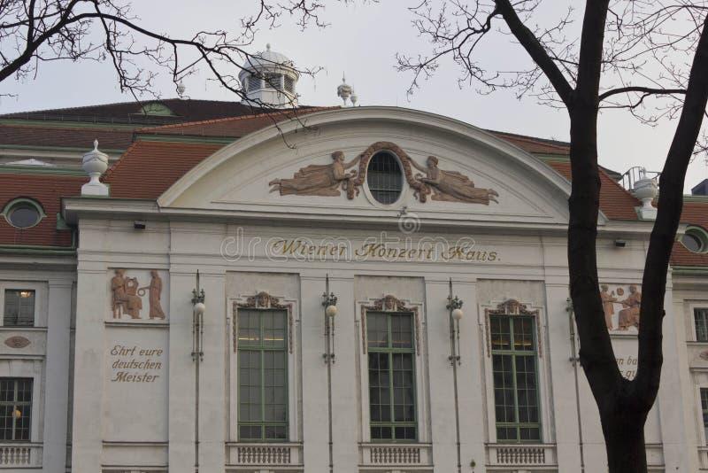 Fachada de la construcción de viviendas del concierto de Viena fotos de archivo