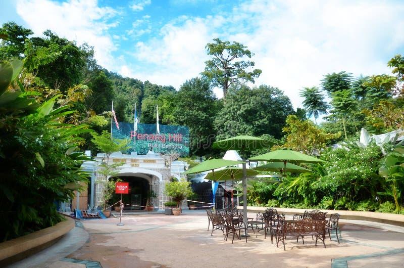 Fachada de la estación de tren en la colina de la colina de Penang fotos de archivo libres de regalías
