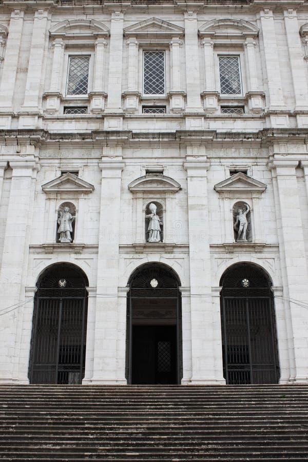 Fachada de la iglesia de Vicente de Fora del sao imágenes de archivo libres de regalías