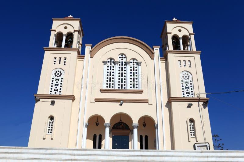 Fachada de la iglesia griega imagen de archivo