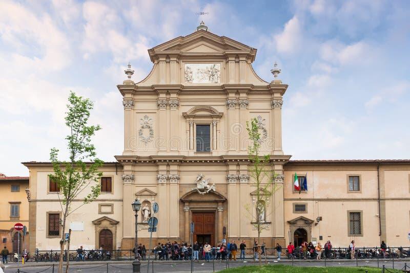 Fachada de la iglesia San Marco en Florencia, Italia imagen de archivo