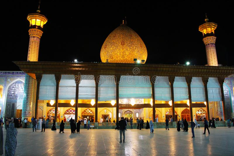 Fachada de la mezquita de Ceragh del Sah, Shiraz, Irán fotos de archivo libres de regalías