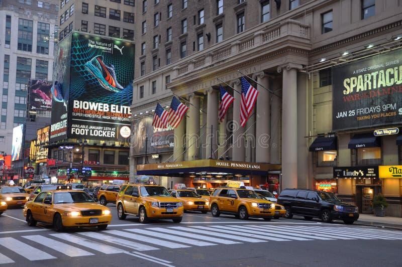 Fachada de Pensilvânia do hotel, New York City fotografia de stock