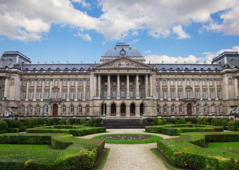 Fachada de Royal Palace en Bruselas fotografía de archivo