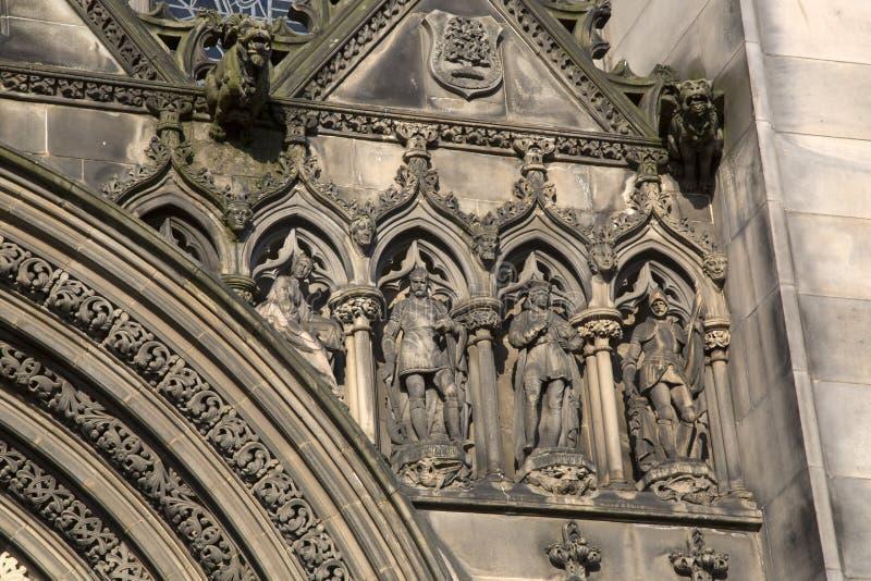 Fachada de St Giles Cathedral Church; Milha real; Lawnmarket; O IDE imagens de stock royalty free