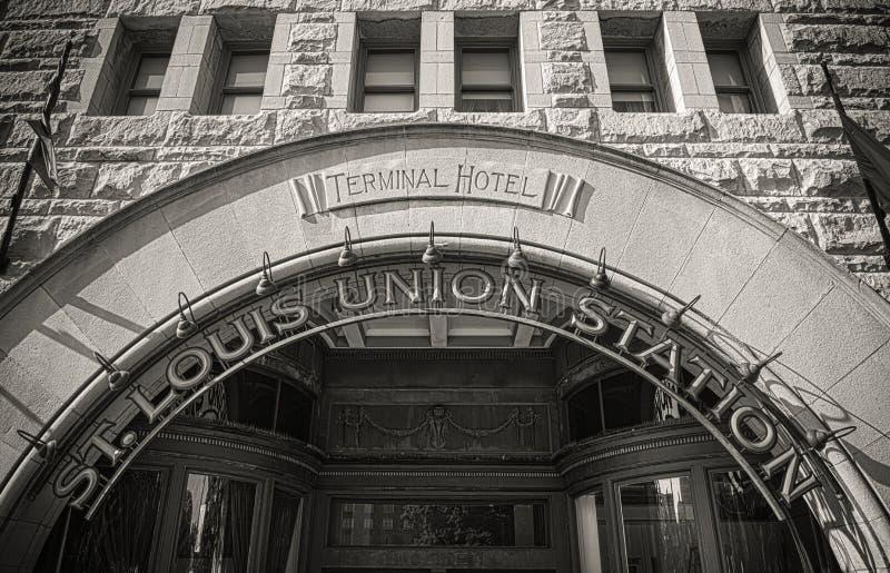 Fachada de St. Louis Union Station imagenes de archivo
