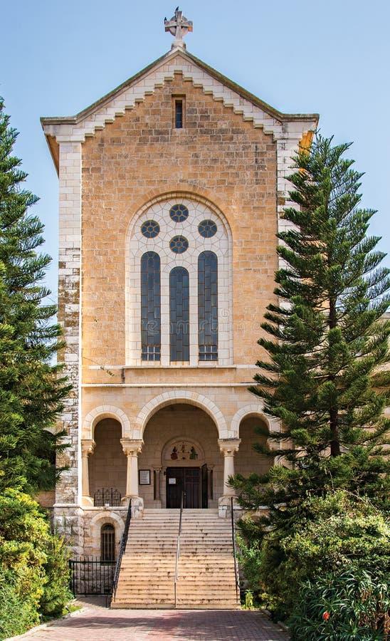 Fachada de un monasterio antiguo, Latrun, Israel imagenes de archivo