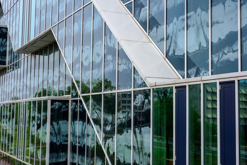 Fachada de vidro em 3D imagens de stock royalty free