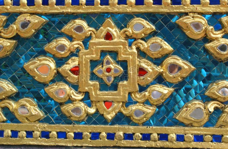 Fachada de Wat Phra Kaew, Bangkok, Tailandia imágenes de archivo libres de regalías
