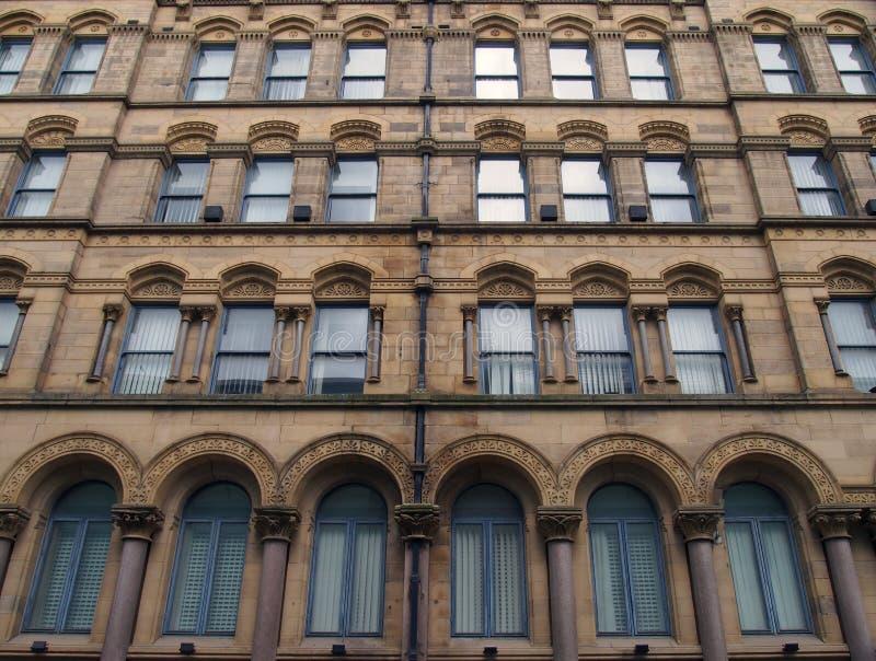 Fachada del almacén milligan y de forbes anterior en Bradford West Yorkshire un edificio grande del estilo del palazzo imagen de archivo libre de regalías