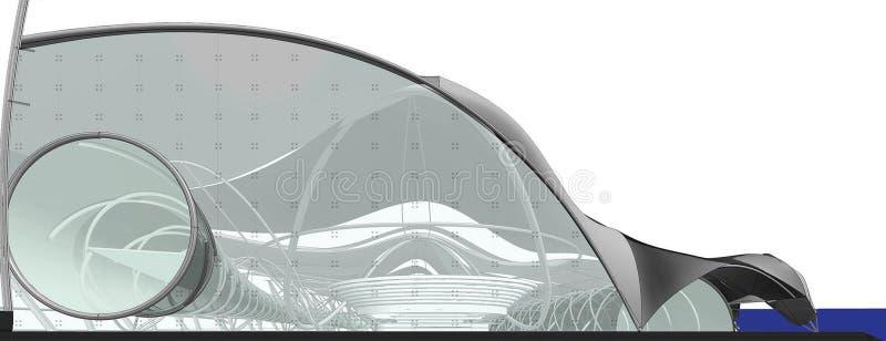 Fachada del centro nacional para los Juegos Olímpicos acuáticos ilustración del vector