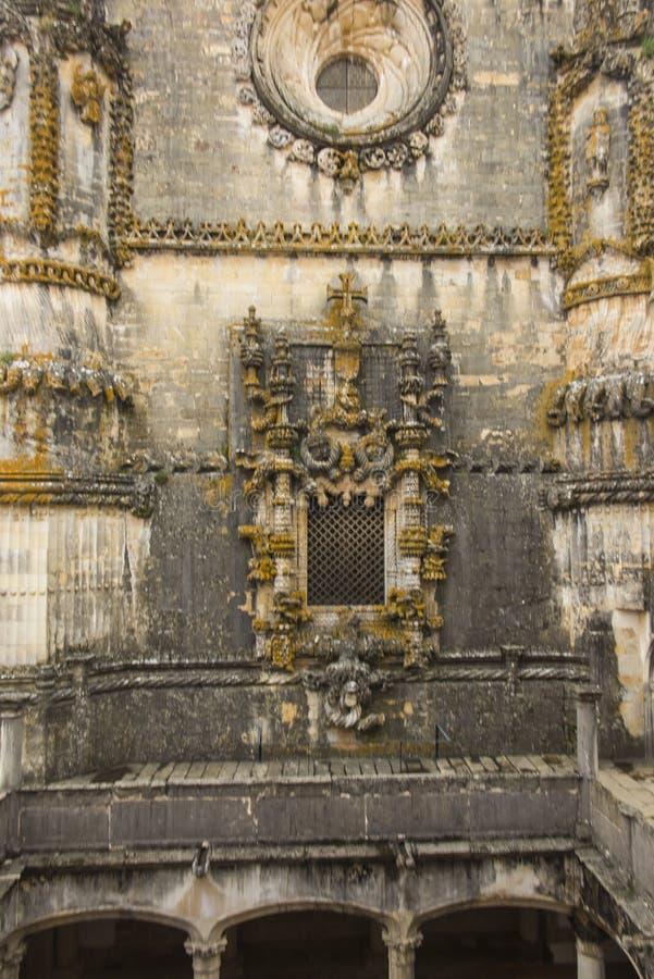 Fachada del convento de Cristo con su Manuel complejo famoso imagen de archivo libre de regalías