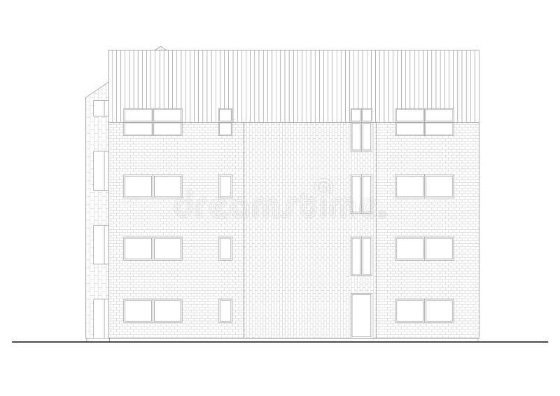 Fachada del edificio libre illustration