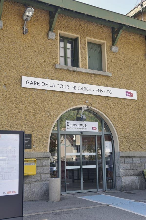Fachada del ferrocarril de Latour de Carol foto de archivo libre de regalías