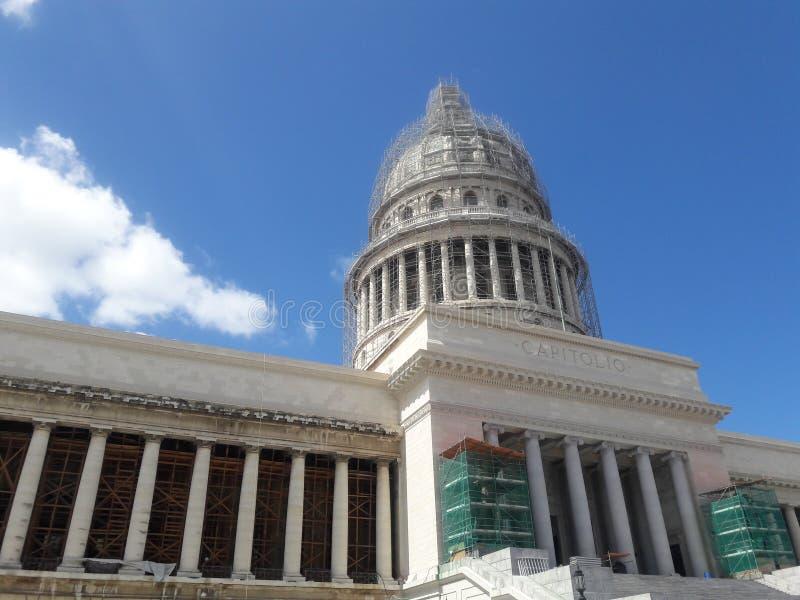 Fachada del frente de Habana Capitolio fotografía de archivo libre de regalías