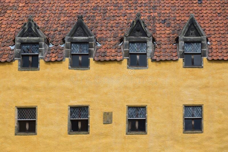 Fachada del palacio de Culross en Culross foto de archivo libre de regalías