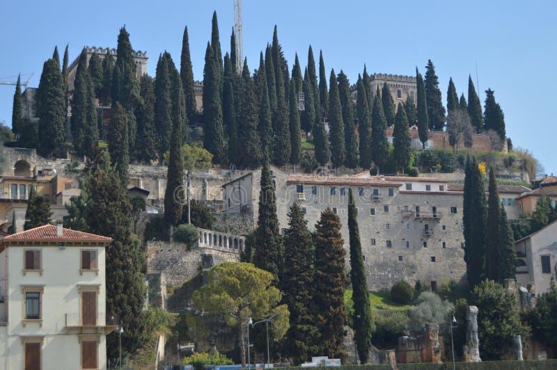 Fachada del San Girolamo Convent In Verona foto de archivo libre de regalías