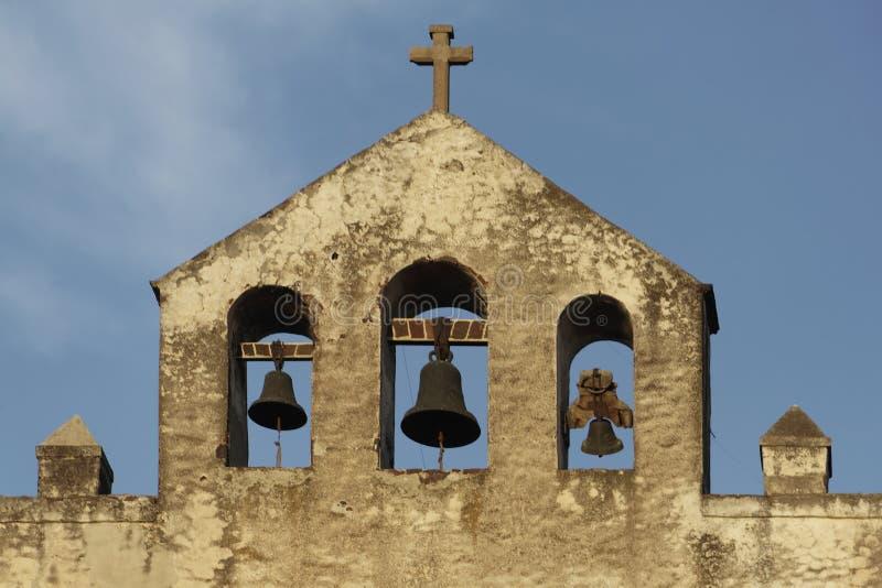 Fachada do convento de Acolman imagens de stock