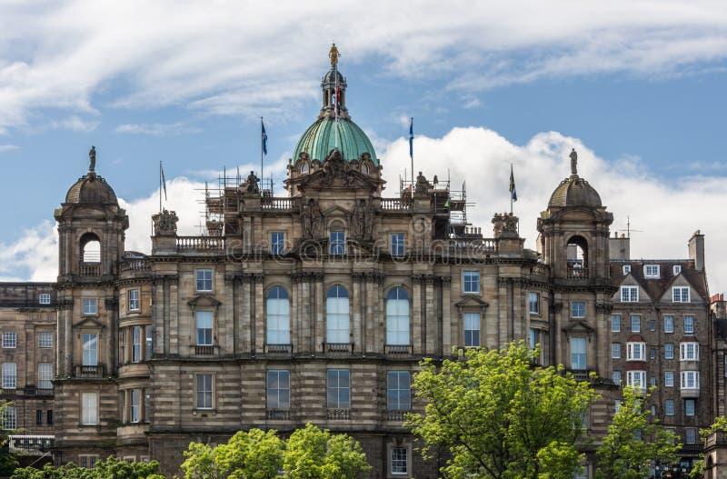 Fachada do grupo de Lloyds Bankign, Edimburgo, Escócia, Reino Unido imagens de stock