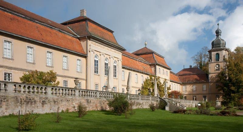 Fachada do jardim do castelo Fasanerie imagens de stock