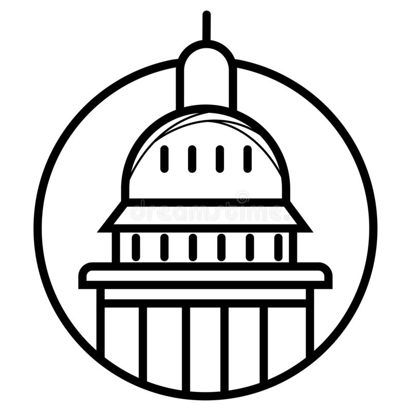 Fachada do leste da constru??o do Capit?lio do Estados Unidos - Estados Unidos do Washington DC ilustração do vetor