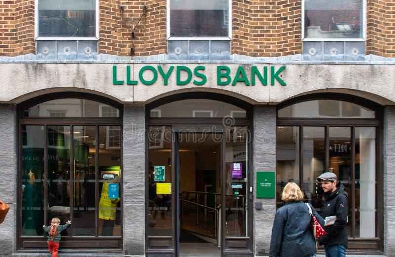 Fachada do Lloyds Bank fotografia de stock royalty free