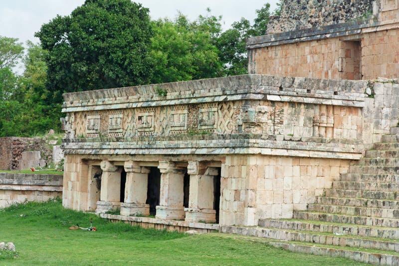 Fachada do templo de Uxmal fotos de stock