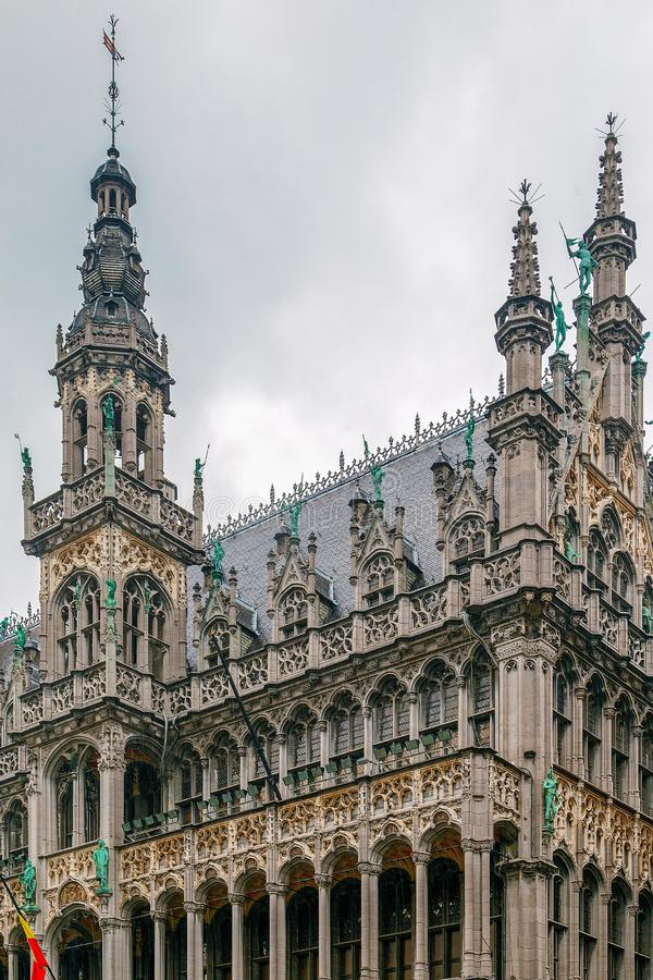Fachada dos reis Casa, Bruxelas, Bélgica foto de stock