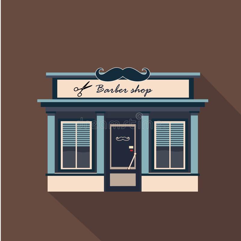 Fachada dos restaurantes e das lojas, vetor da montra ilustração royalty free