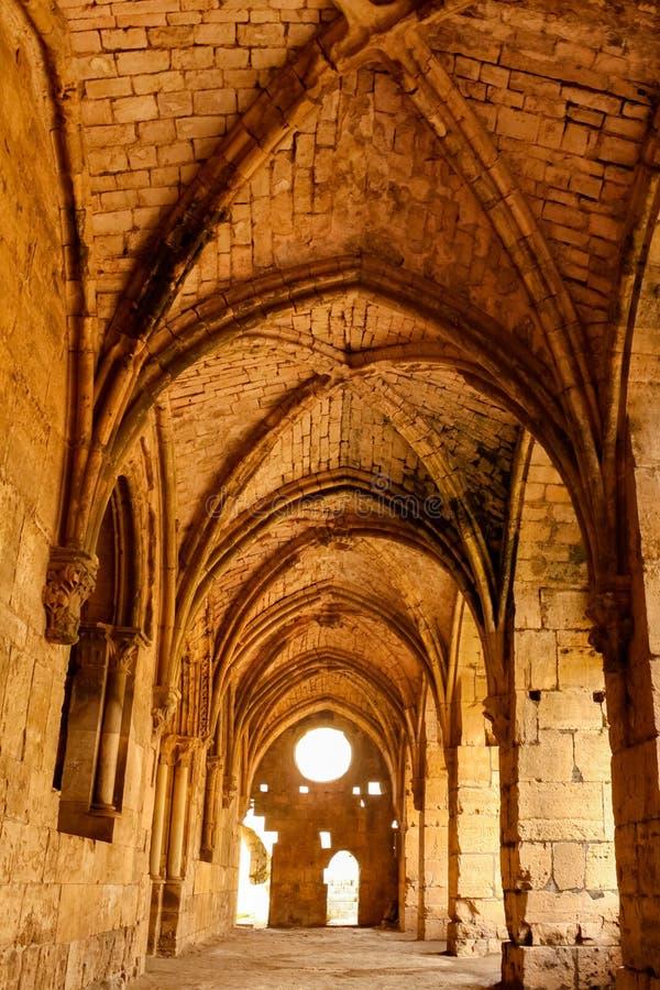 Fachada gótica, Chevaliers del DES de Krak imágenes de archivo libres de regalías