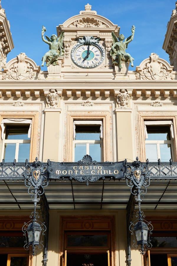 Fachada grande no dia de verão, Monte - Carlo da construção do casino fotos de stock royalty free