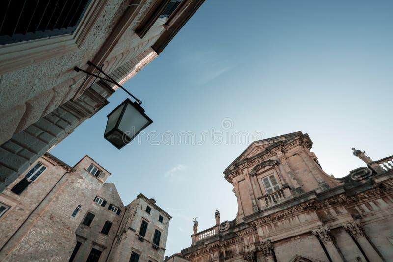 Fachada histórica del edificio en Dubrovnik foto de archivo libre de regalías