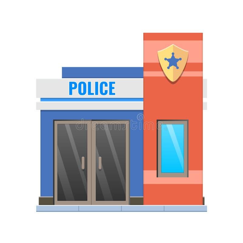 Fachada moderna del edificio de la policía de la ciudad Edificio del departamento de la comisaría de policías de la ciudad libre illustration