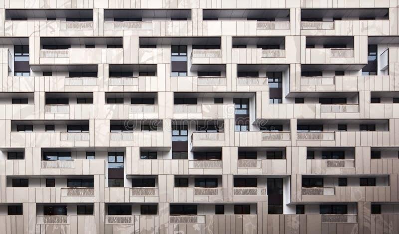 Fachada moderna do edifício foto de stock