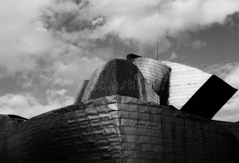 Fachada moderna no Guggenheim imagem de stock royalty free