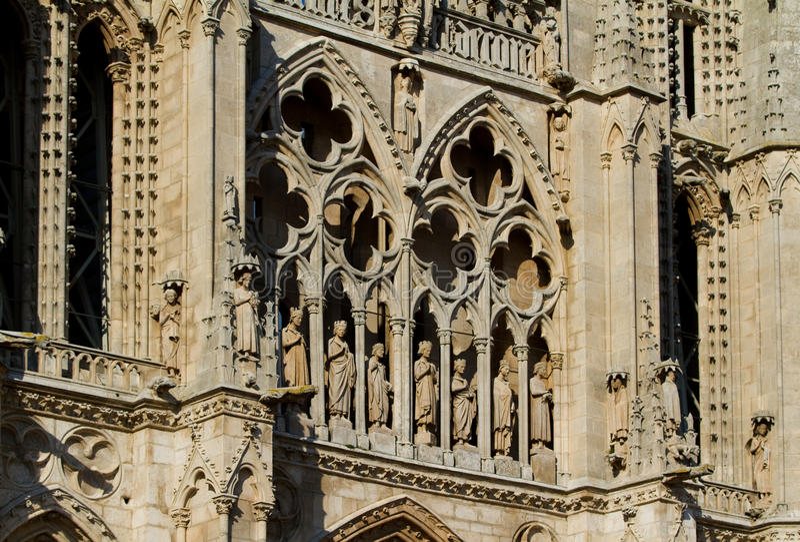 Fachada principal da catedral de Burgos. Spain imagem de stock