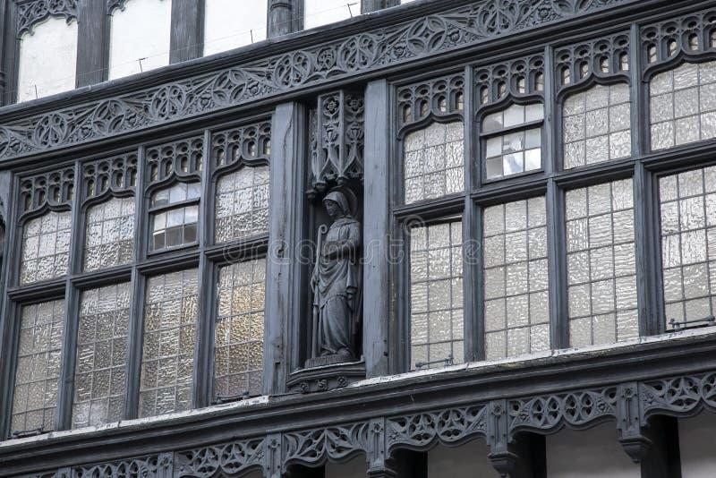 Fachada tradicional en Chester imágenes de archivo libres de regalías