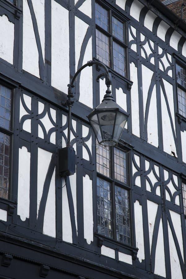 Fachada tradicional en Chester foto de archivo libre de regalías
