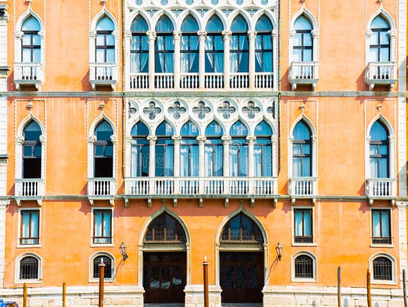 Fachada Venetian da casa imagem de stock royalty free