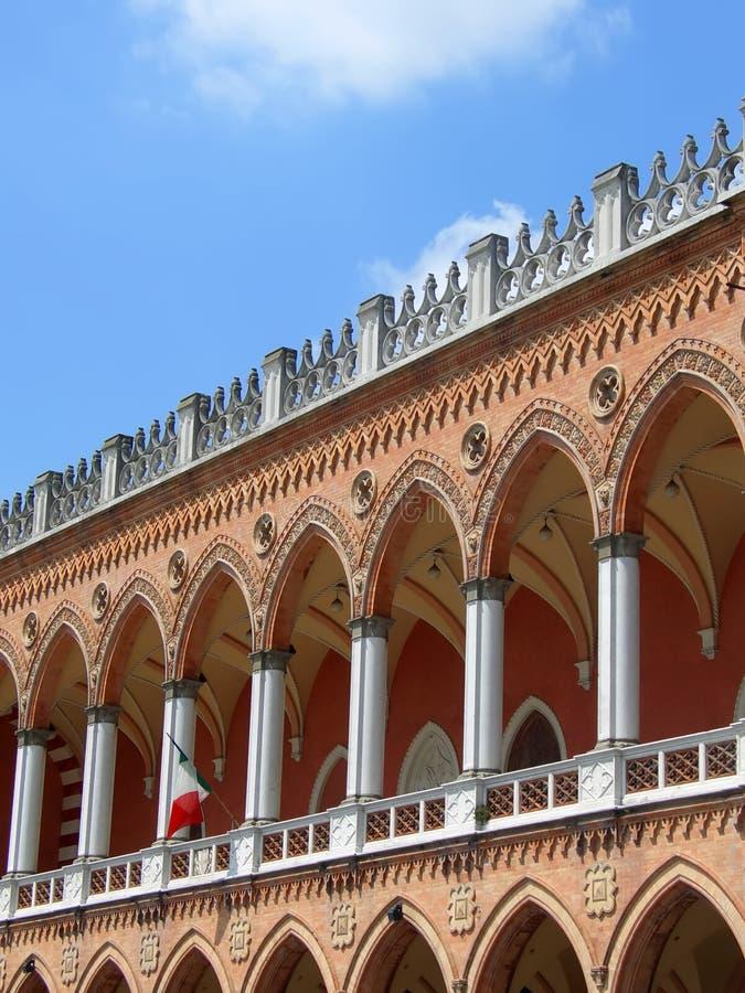 Fachada Venetian em Pádua fotos de stock royalty free