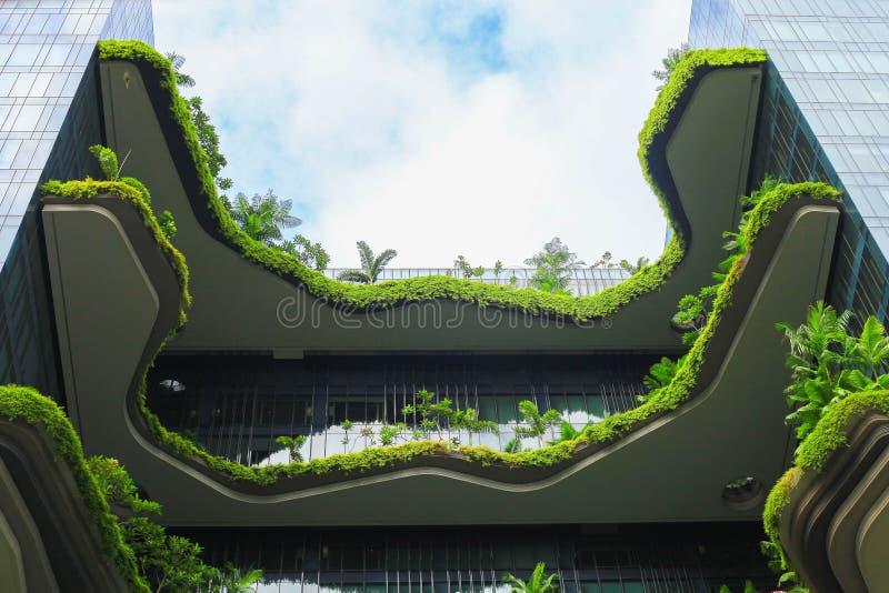 Fachada verde da natureza em moderno imagem de stock royalty free