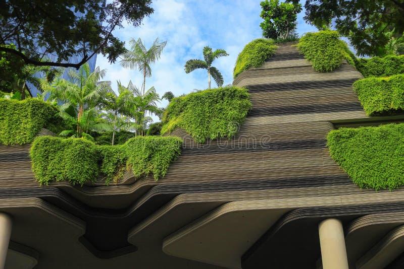 Fachada verde da natureza em moderno fotos de stock