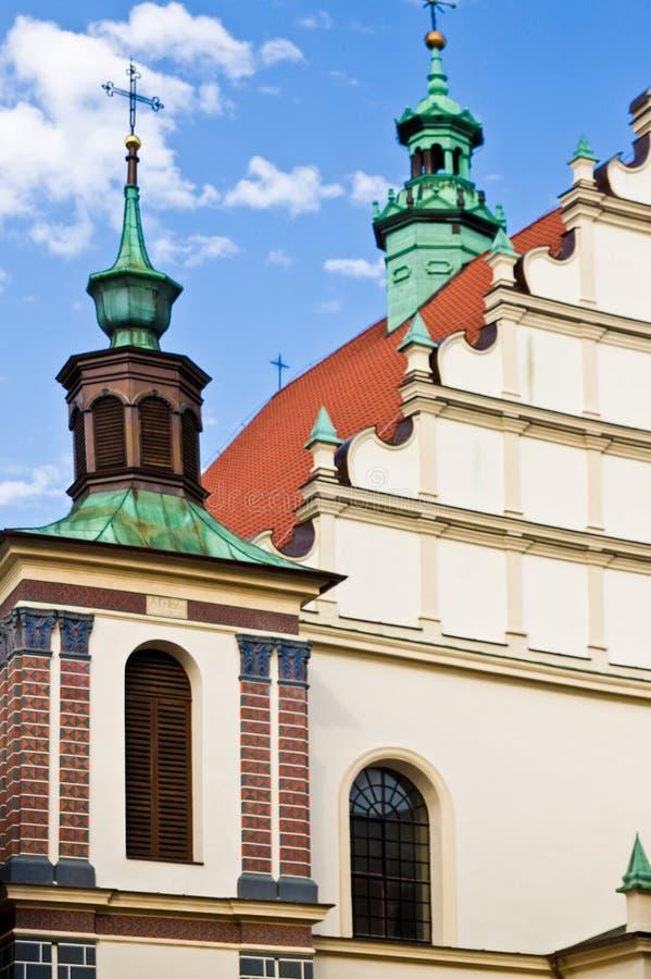 Fachada vieja de la catedral de la ciudad de Lublin, Polonia imágenes de archivo libres de regalías