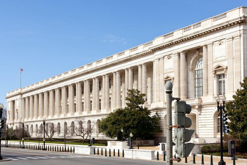 Fachada Washington del edificio de oficinas del senado de Russell imagenes de archivo
