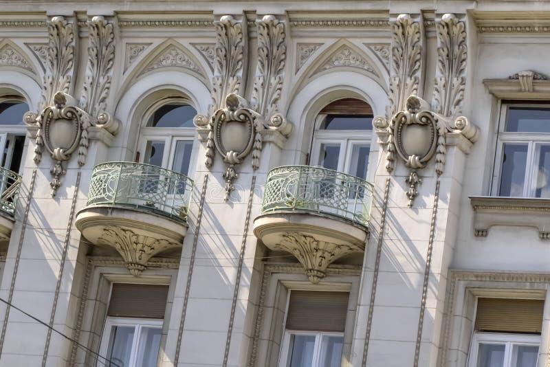 Fachadas de Belgrado - restaurante ruso anterior del zar que construye el De imágenes de archivo libres de regalías